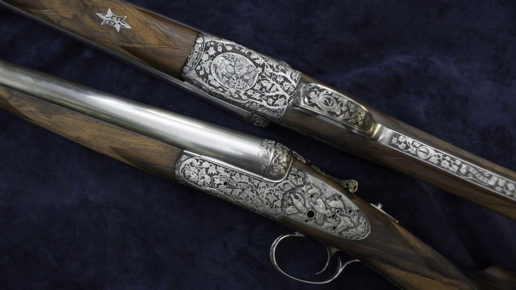Pair of 12 bore in the white