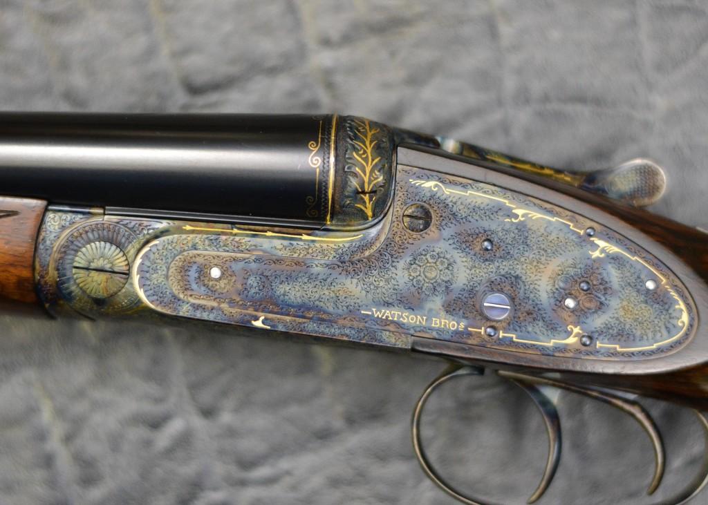 Rose and Scroll Gun Engraving Pattern